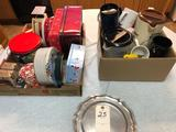 Assortment incl. Decorative Storage Tins, Candy Tray, Cups, and Pitchers