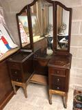 Tri-Mirror Drop Center Vanity