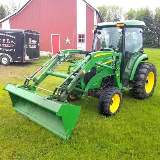 2008 John Deere 4320 Compact Tractor, Mfd, Cab, Hydro Transmission with 400X Loader