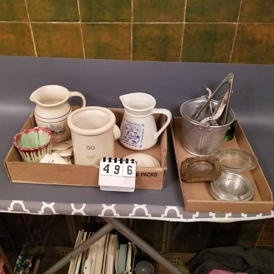 Assortment inc. Advertising Pitchers and Ashtrays