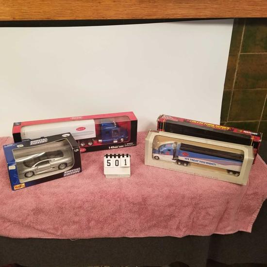 Assortment inc. Semi-Tractor/Trailers and Special Edition Car
