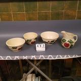 Watt Ware Assortment inc. Pitchers and Bowls