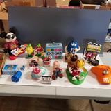 M&M Collectible Items inc. Dolls, Figurines, Caps, and Candy Dishes