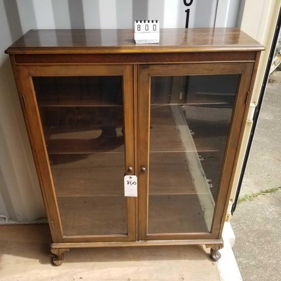 Glass Front Double Door Book Case