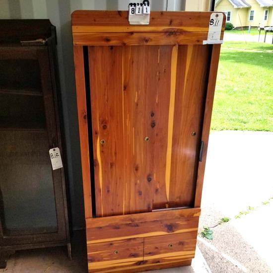 Cedar Slide Door Wardrobe