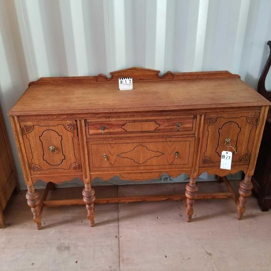 Ornate Spool Foot Sideboard [Match to Lots 807-808]