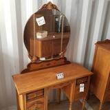Tri-Mirror Ornate Flat Top Vanity [Match Lots 807-817]