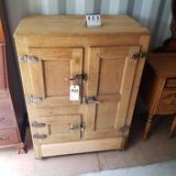 Wood Ice Box Appears Original