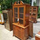 Glass Front Spool Top China Hutch