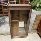Glass Front Adjustable Shelf Cabinet