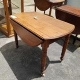 Drop Side Table on Roller Legs