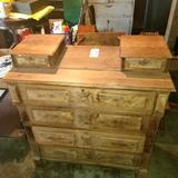 4 Drawer Dresser with Top Scarf Drawers