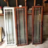 Assortment Glass Vertical Slat Cabinet Doors