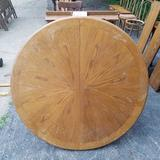 Large Single Pedestal Table with Large Leaf