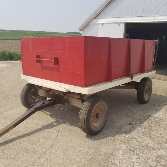 6x10 Wood Barge Box on Electric Running Gear