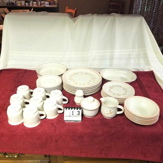"Large ""Chantilly"" Stoneware Dish Set"