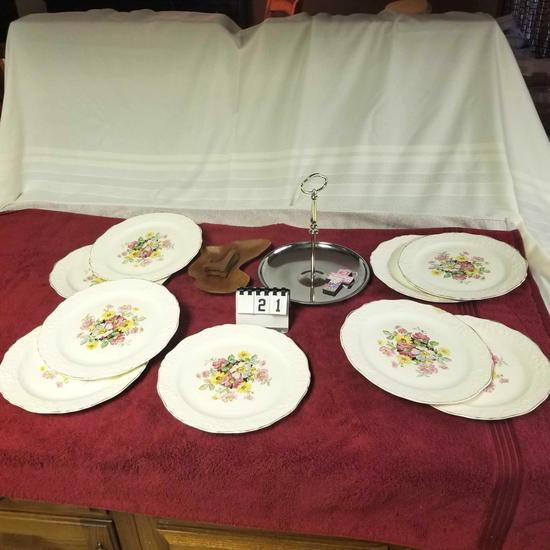 Knowles China Plates and Mint Tray