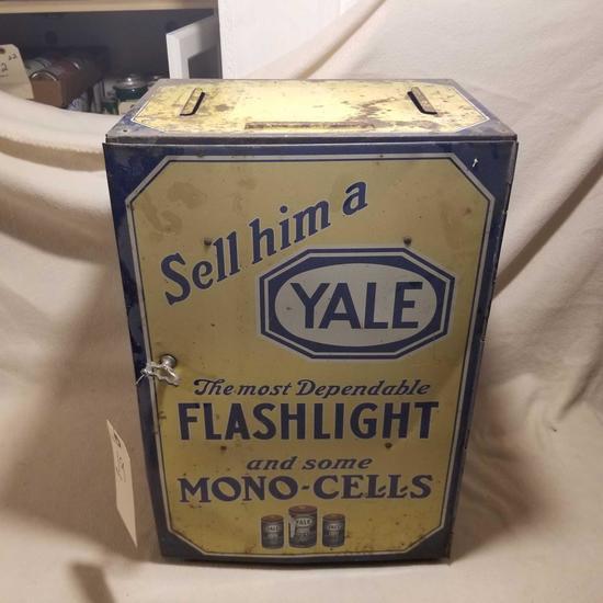 Vintage flashlight metal cabinet