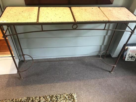 Sofa table with tile top