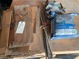 Various cedar shingles, mixture of various screws, Joist brackets, and drywall mud. No shipping