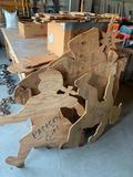 Various wood patterns including boy, girl, nativity scene and animals. No shipping