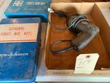 Black & Decker 2054 screw gun -screwdriver and 2 first aid kits. No shipping