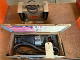 Black & Decker 6'' bench grinder with brush and Black & Decker reciprocating saw. No shipping