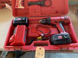 Milwaukee 1/2'' driver drill, 18 V with two batteries and charger, plus case. Shipping