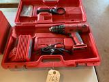 Milwaukee 1/2'' driver drill, includes 18 V charger-no batteries. Includes case. Shipping