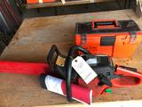 Jonsered Turbo 28'' chainsaw with extra chain and case. Nice! Shipping