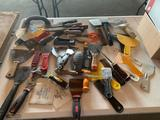 Wall board saws, putty knives, scrapers, etc. shipping