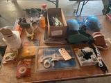 Kneepads, Delta 9'' vice clamp, six pole round connector, masonite vinyl corners, Shop Fox wood