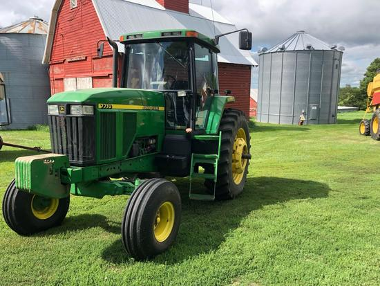 1997 John Deere 7710 Tractor 2wd Power Quad