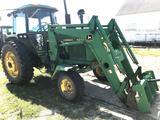 1980 John Deere 4240 2wd Tractor with Hi Lift John Deere 740 Loader