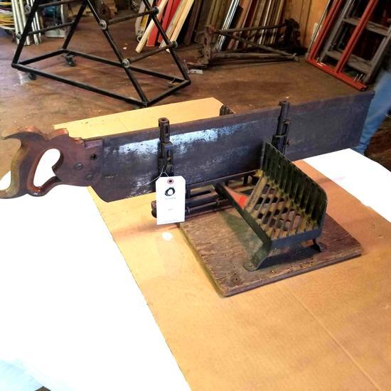 Vintage Backsaw and Miter Box
