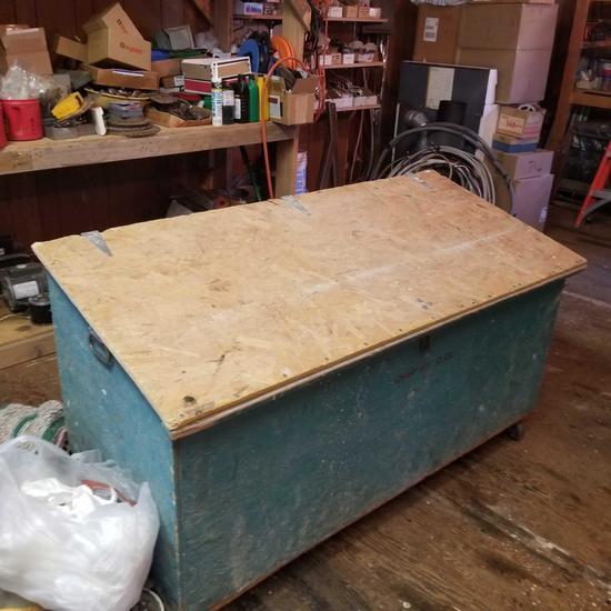 Wood Job box on Caster Wheels