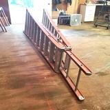 Fiberglass 18' A-Frame Combination Step-Extension Ladder