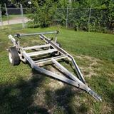 Adjustable Cable Payout Spool Trailer with Ramps