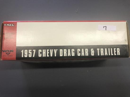 WIX Fliters 1957 Chevy Drag Car and Trailer-NIB