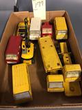Assortment of Tonka Trucks, Vans and Car