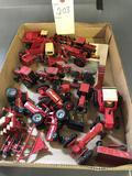 Assortment of 1/64th IH Farm toys