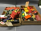2 Boxes of an Assortment of Trucks and Cars