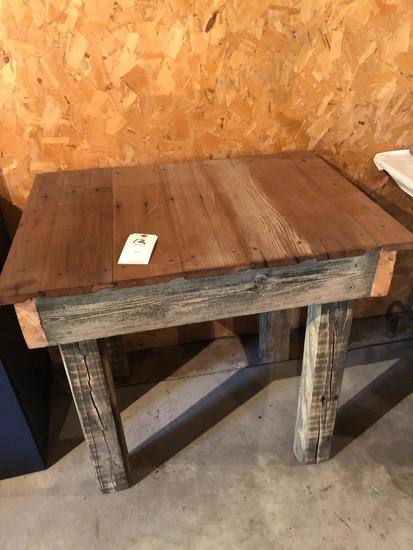 Homemade rustic wood table - 33'' W x 24'' D x 30.5'' H - No Shipping