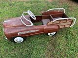 Metal Jet-Flow Drive station wagon pedal-car, w/rear seat & storage compartment. Complete w/pedals,