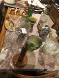 Glass luncheon set, various cups, soup bowls, and more!