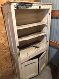 Old kitchen cupboard w/bottom doors, some damage - No Shipping!