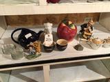 Hall teapot, apple cookie jar, Japan cream/sugar set, and more!