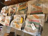 Various DeKalb seed-corn cloth sacks (some includes original germination tags)