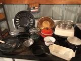 15.5'' cast iron vented floor-grate, birdhouse, electric skillet, enamel & stainless steel kitchen