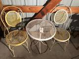 Metal/wrought iron conversation table w/(2) chairs - No Shipping!